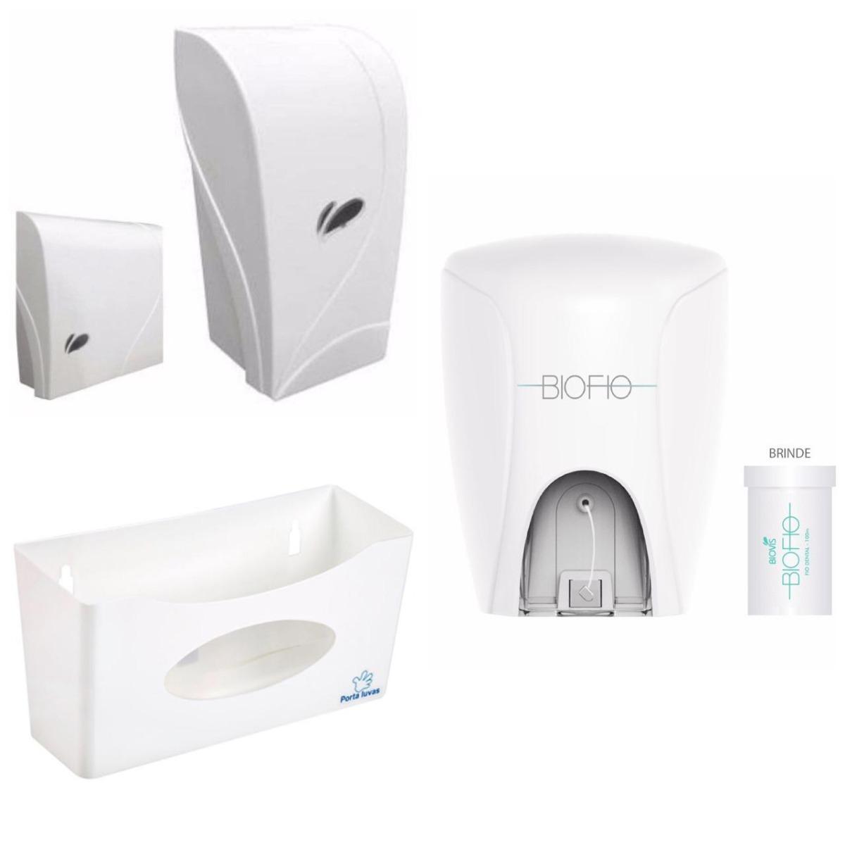 f4fe437bd toalheiro saboneteira porta luva dispenser fio dental biovis. Carregando  zoom.