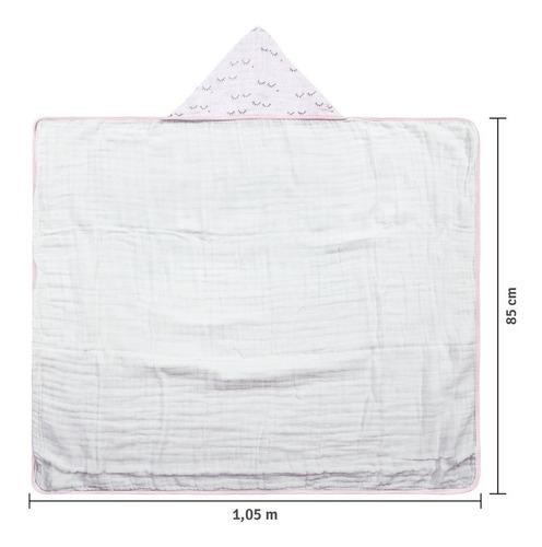 toalhão de banho soft premium papi bebê com capuz - cílios