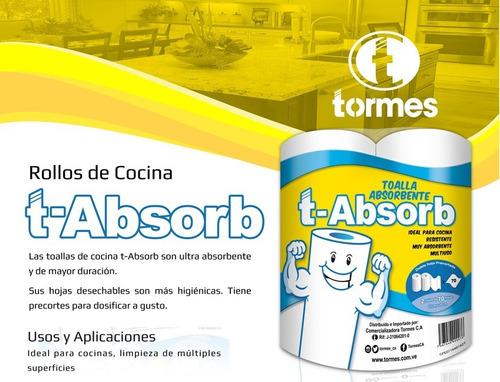 toalla absorbente t-absorb blanco (30 rollosx bto)