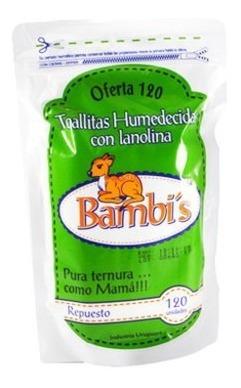 toalla bambis respuesto 100 unidades