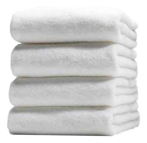 toalla baño completo blanca 90x150 cm, 100% algodón - 750 gr