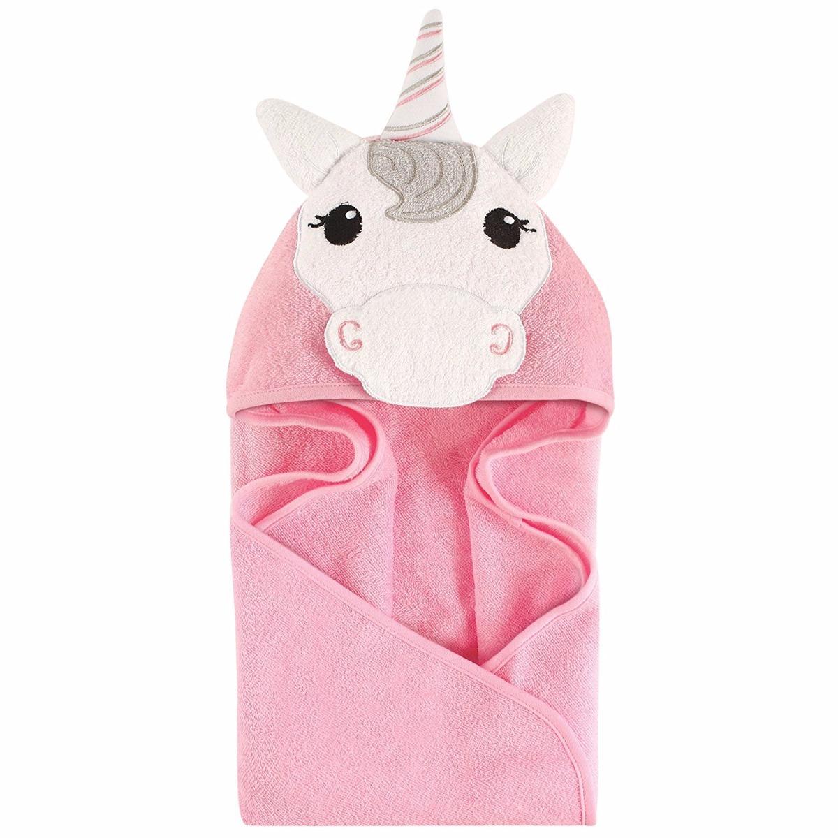 Toalla Unicornio Bata De Ba 241 O Para Bebe Poncho Envio