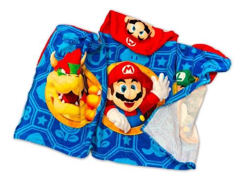 toalla bata batita para niño super mario bros nintendo nueva