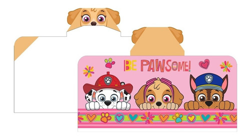 toalla bata de baño para niñas paw patrol skie nueva