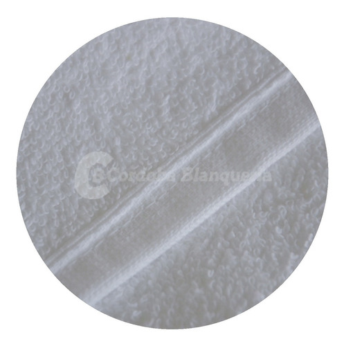 toalla blanca 380 grs 45 x 80 cm hotelero x 2 unidades