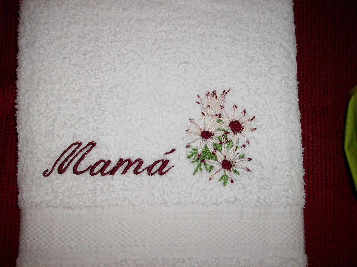 Toalla bordada personalizada en mercado libre for Ganchos para toallas de bano