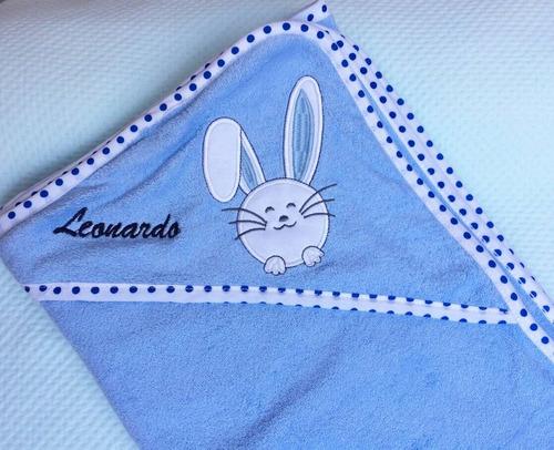 toalla capucha de baño para bebes felpa bebe 100% algodon