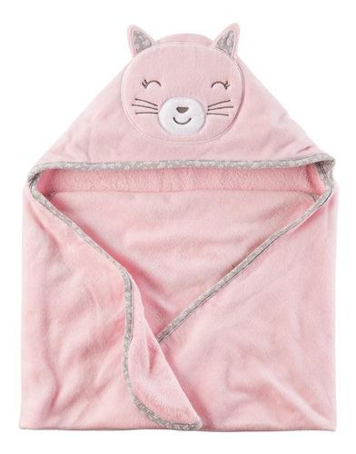 toalla capucha gatito rosada carters mvd kids