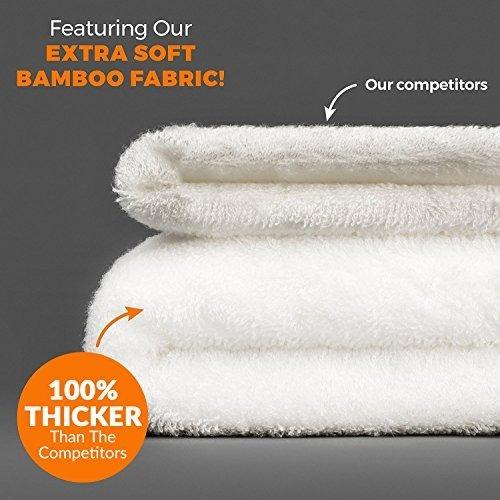 toalla con capucha absorbente de bambú extra suave