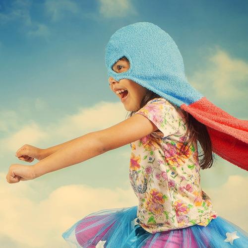 toalla con capucha super héroes/heroína. 3 a 8 años.