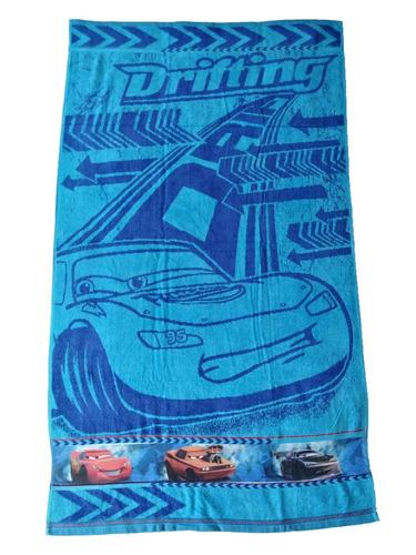 toalla cuerpo infantil cars - azul