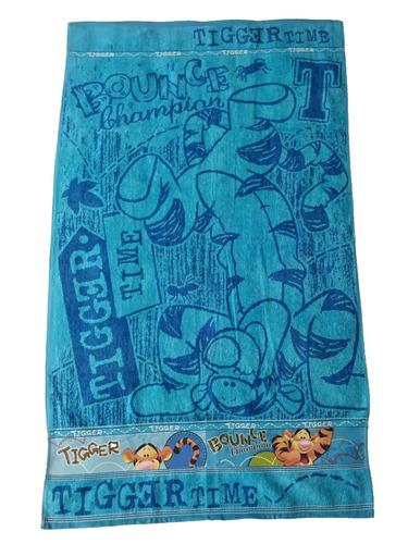 toalla cuerpo infantil tigger - azul