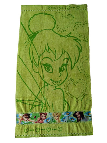 toalla cuerpo infantil tinkerbell - verde