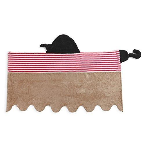 toalla de baño con capucha baby demdaco, pirata