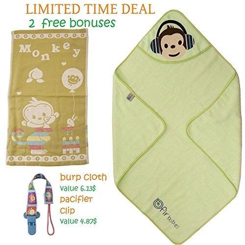 toalla de baño con capucha premium para niños