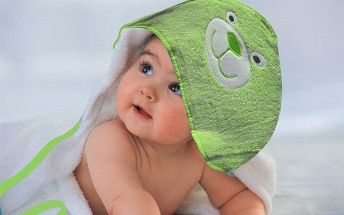 toalla de bebé con capucha  100% alg-. cottonflor.