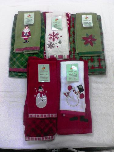 toalla de cocina navideña