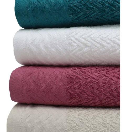 toalla de cuerpo jacquard blanco 450gr 70x140cm - zigzag