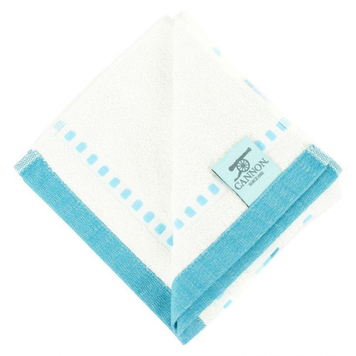 toalla de manos cannon 41x71 500 gramos-beige con azul