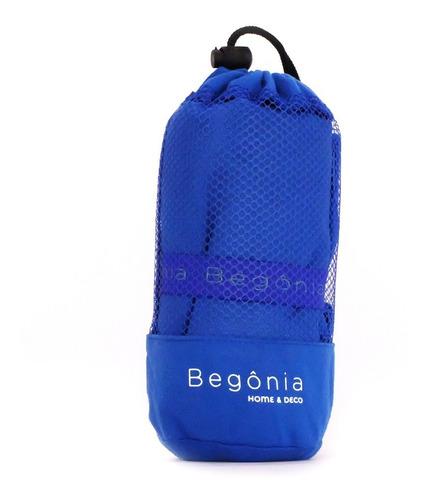 toalla de microfibra 80cm x 130cm azul - begônia