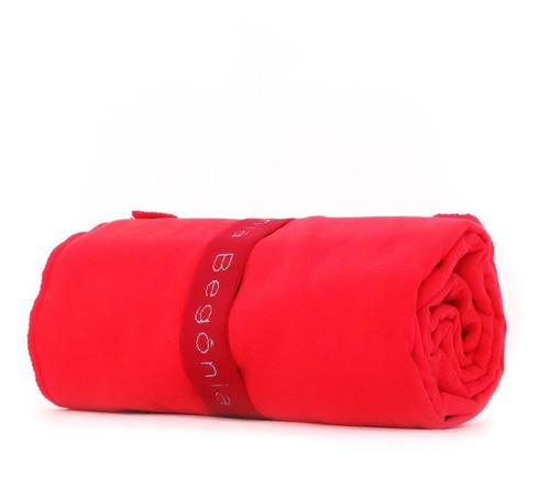 toalla de microfibra 80cm x 130cm roja - begonia