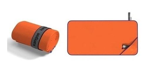 toalla de microfibra kangoo talla m color naranja con azul