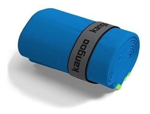 toalla de microfibra kangoo talla s color azul con verde