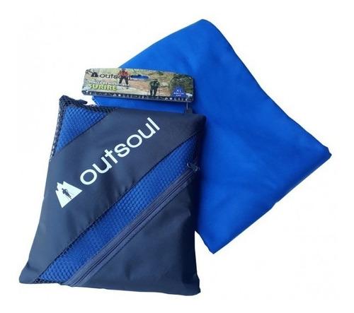 toalla de microfibra lisa outsoul xl secado rápido antiolor