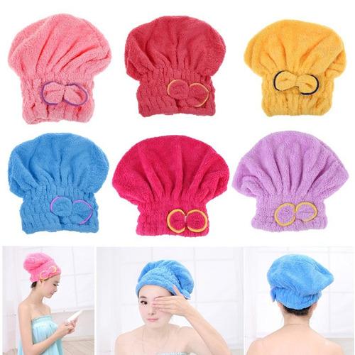 toalla de microfibra tipo turbante o gorro para secar pelo