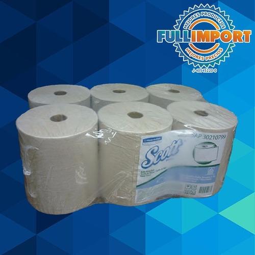 toalla de papel manos 7  blanco 6 rollos - fullimport
