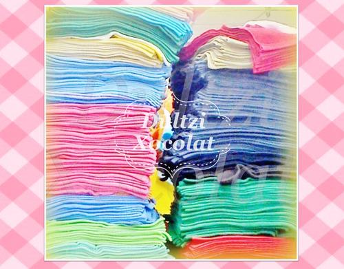 toalla facial colores claros mayoreo 50piezas envío incluido