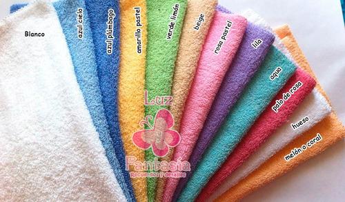 toalla facial variedad de colores.