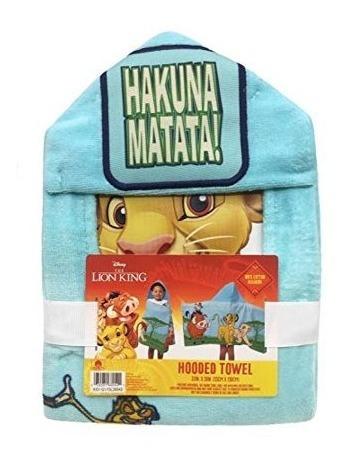 toalla hakuna matata rey leon capucha bata