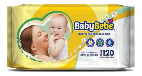 toalla humeda baby bebe 120pzas
