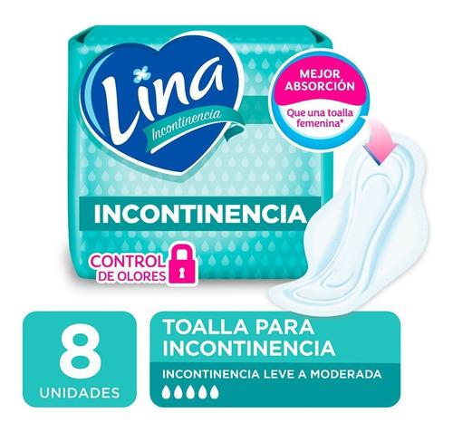 toalla incontinencia lina normal x 8 unidades