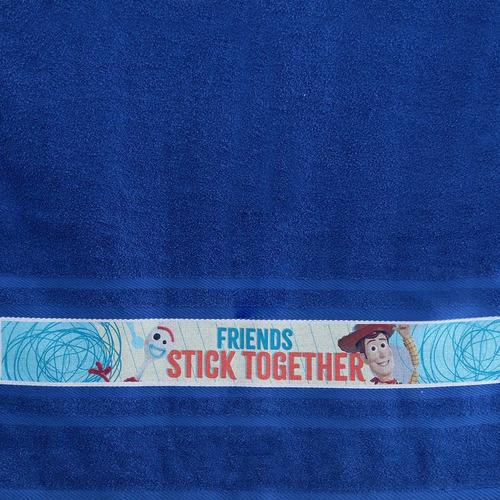 toalla infantil estampada azul toy story | disney pixar