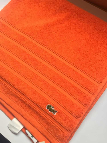 toalla lacoste croc orange