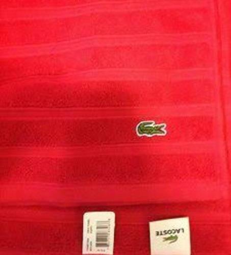 toalla lacoste croc red