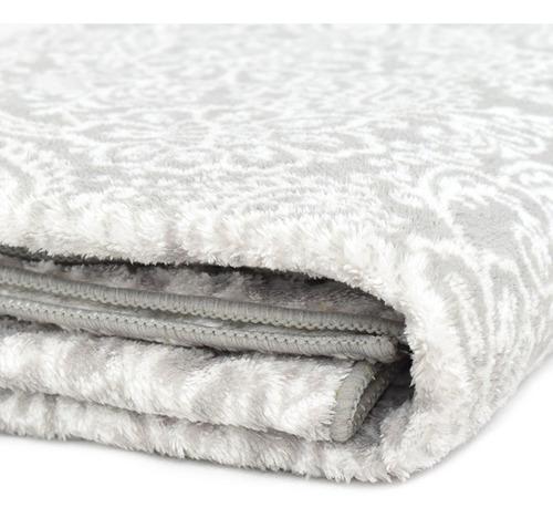 toalla mawi 1/2 baño floral gris elegante suave vianney