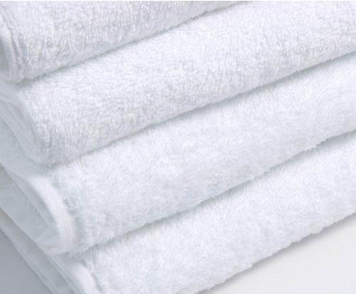 toalla medio baño blanca 70x140 cm, 100% algodón, 510 gr.