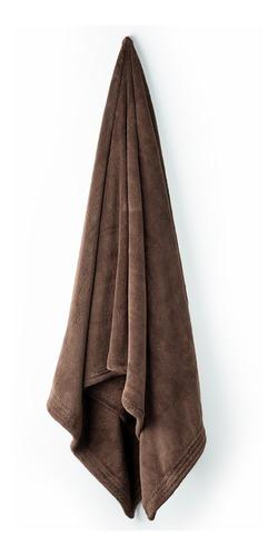 toalla microfibra 1/2 baño lisa esquimal café