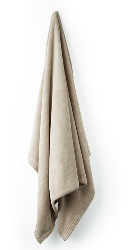 toalla microfibra 1/2 baño lisa esquimal khaki