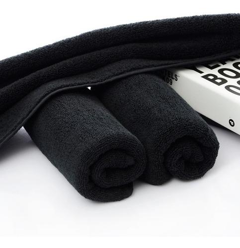 toalla negra de algodón tintes facial estilista 61*41 cm