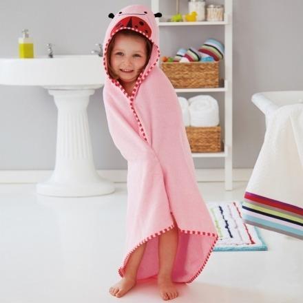 toalla para bebe con capucha skip hop colección zoo