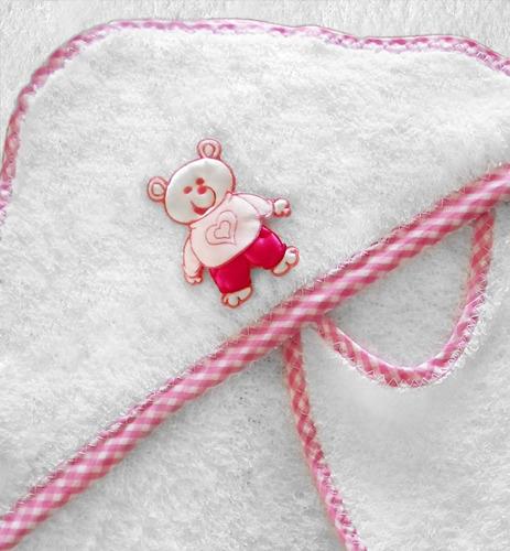 toalla para bebé hello kitty - 100% algodón con babero