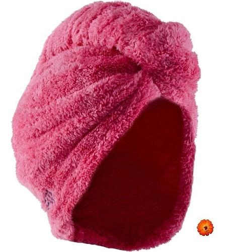 toalla para el cabello rosa de microfibra suave nabaiji