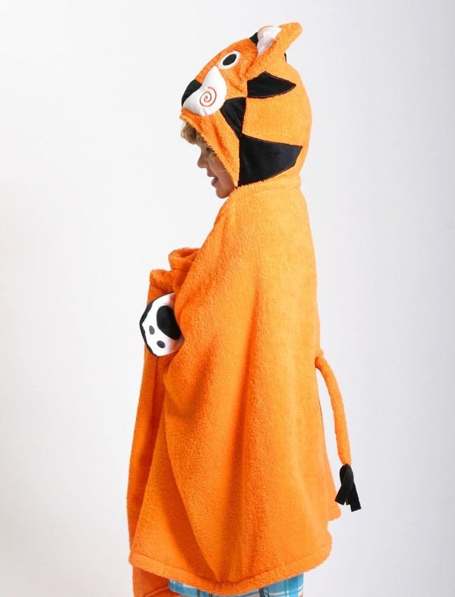 Toalla Para Ni O Tigre Naranja Zoocchini En