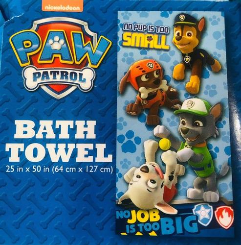 toalla paw patrol azul