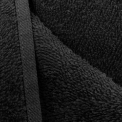 toalla peluqueria x 15 uni.negras 100%algodon. liquidacion