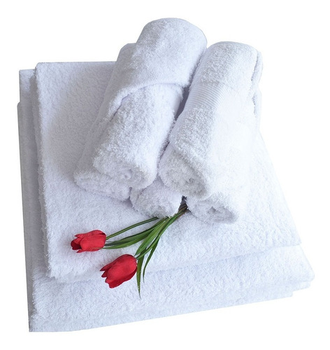 toalla playera blanca 150x75cm 400g. set x 24 hogareto